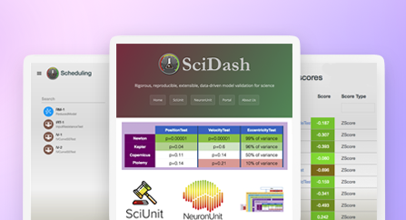 Scientific dashboard for scientific models validation