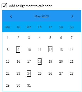 Integration of LMS with a calendar