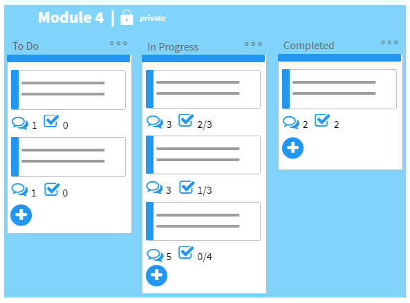 Task tracker for LMS