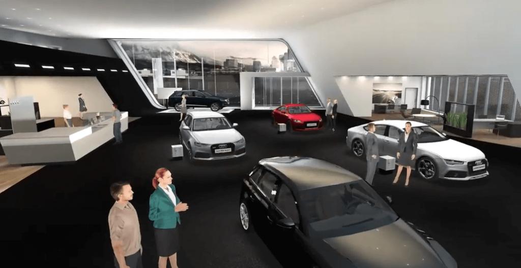 Audi virtual car dealership